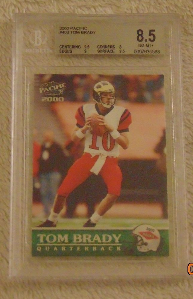 Tom Brady Rookie Card,Tom Brady 2000 Pacific Rookie Card#403 Beckett 8.5 NM-MT+  #NewEnglandPatriots