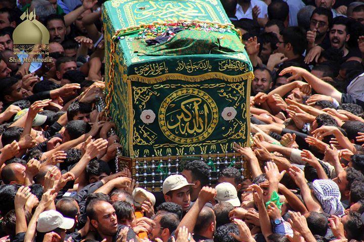 Taboot Imam Musa Kazim (A.S) - Kadhimiya Iraq  (25 Rajab 1437 / 2016 - Kadhimiya Iraq)  Shia Multimedia Team: http://ift.tt/1L35z55