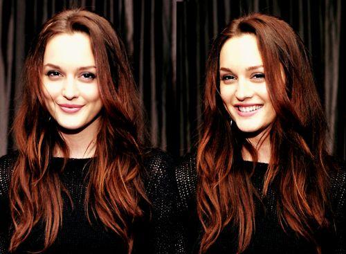 dark red hair that still looks natural, love:)                                                                                                                                                                                 More