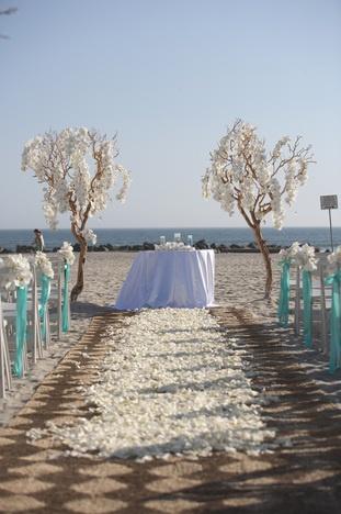 such a pretty beach wedding