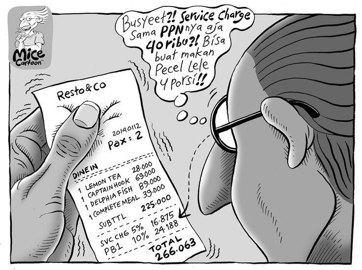 Mice Cartoon, Kompas 5 April 2014: Service Charge
