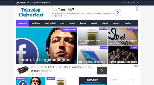 Blogger teknoloji haberleri teması