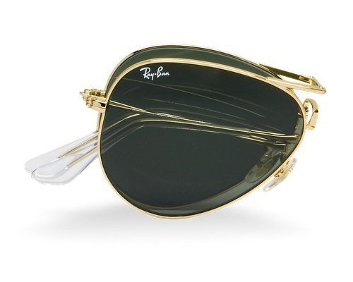 Ray Ban RB3479 Folding Aviator Sunglasses - 001 Arista (G-15XLT Lens) - 58mm Ray-Ban. Save 4 Off!. $181.95