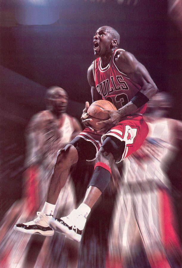 competitive price e836a c2c0a Michael Jordan wearing Air Jordan XI 11 Concord (28 ...