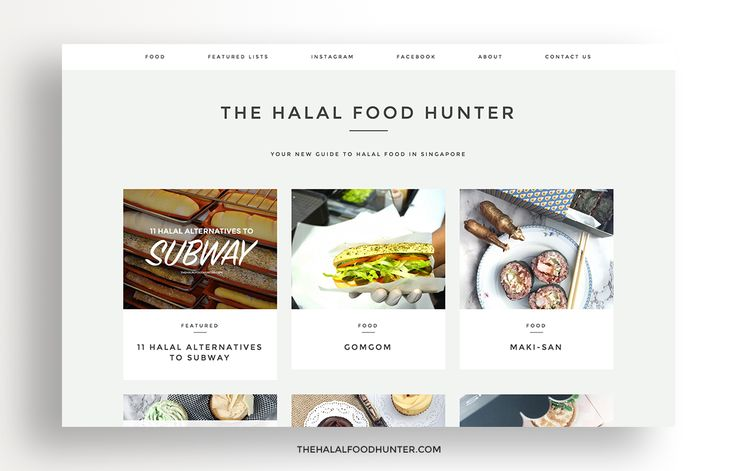 thehalalfoodhunter.com | Eating Out Guides: 8 Halal Food Websites To Follow In 2016