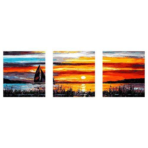Segelboot sonnenuntergang gemalt  14 besten Triptychon Malerei Bilder auf Pinterest | Erwachsene ...