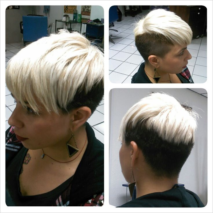 undercut with brown and blonde top