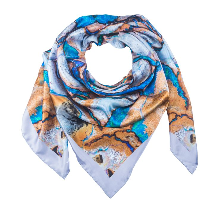 Ara 1 - Silk Scarf - Celestial Collections – Silk and Stone