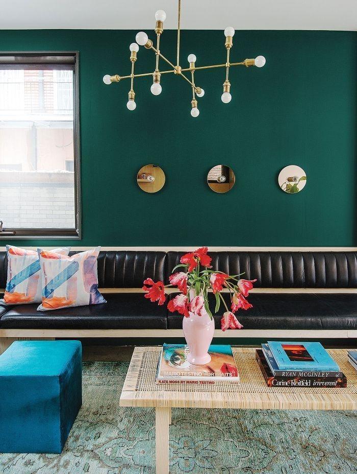 Schoner Wohnen Farbe Petrol Als Wandfarbe Kombiniert Mit Turkis Mobel Und Dekorationen In 2020 Innenraumfarben Haus Deko Wandfarbe Grun