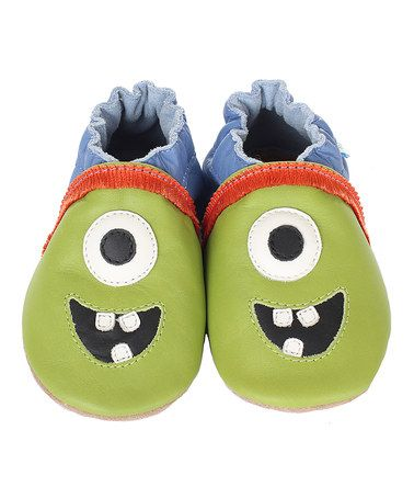 Another great find on #zulily! Green Buzz Cuzz Alien Bootie by Robeez #zulilyfinds