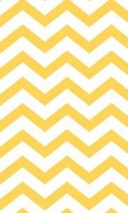 Yellow and White Chevron Rug