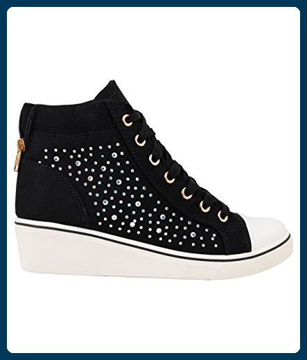 Damen Wedge Sneakers_(16294-BLK-6) - Sneakers für frauen (*Partner-Link)