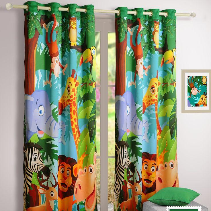 "Verdunkelungsvorhang "" Jungle Book Story"" | Buy @ inhoma24.de #inhoma #Kinder #Bettwäsche"