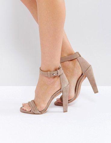 All Saints Effie Heeled Pump by Allsaints. Heels by AllSaints, Suede upper, Ankle-strap fastening, Woven strap detail, Open toe, High heel, Wipe clean, 100% Rea...