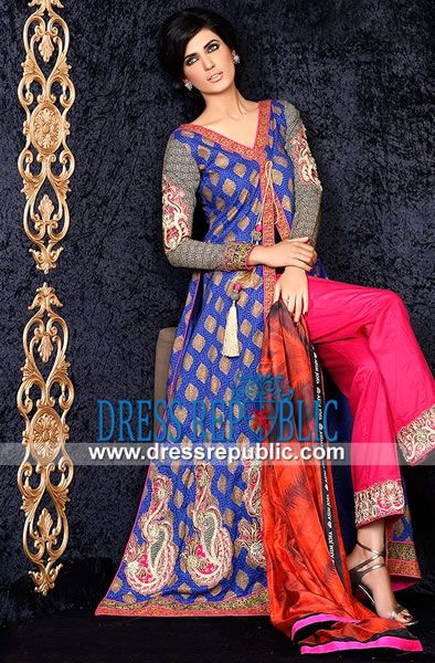 Asim Jofa Luxury Lawn Collection for Spring 2014  Buy Online Latest Lawn Designs: Asim Jofa Luxury Lawn Collection for Spring 2014 in Kirklees, United Kingdom. Call Manchester 0161 408 8994. by www.dressrepublic.com