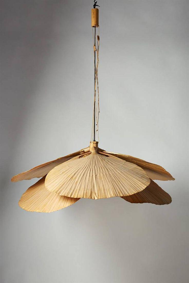 """Ceiling Light, """"Uchiwa"""" Designed by Ingo Maurer for Design M, Germany 1970s image 5"""