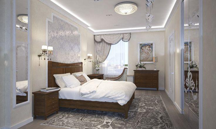Выставочный зал (мебель для спальной) - Дизайн проект интерьера магазина классической мебели. Архитектор-дизайнер Инна Войтенко.