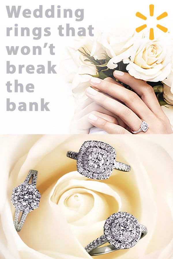 """You're ready to say """"I do"""" - don't let the cost of the ring hold you back. Walmart has stunning, on-trend rings that won't break the bank. Find gold-plated wedding bands for him and princess-cut engagement rings for her. Make your dreams come true at walmart.com."""