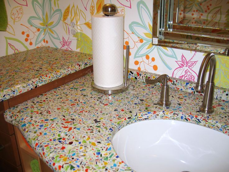 Vetrazzo Re Cycled Glass Countertop For Utility Room