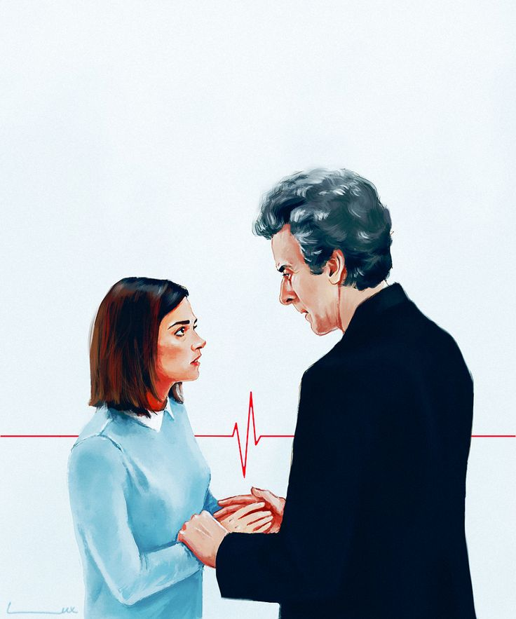The 12th Doctor and Clara Oswald - ''Between one heartbeat and the next'' by luluha (deviantART) -- Doctor Who.S09E12 - ''Hell Bent'' (Doctor Who - BBC Series)  source: http://luluha.deviantart.com/art/between-one-hearbeat-and-the-next-576614444
