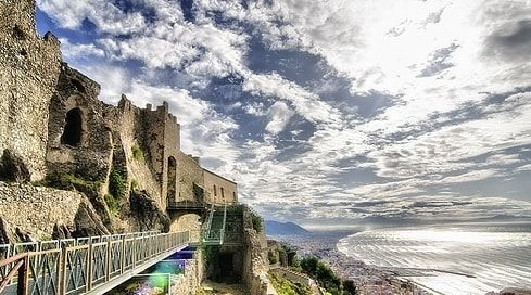 The #Arechi #Castle is a medieval castle, 300 meters above the sea level, overlooking the city and the Gulf of #Salerno.