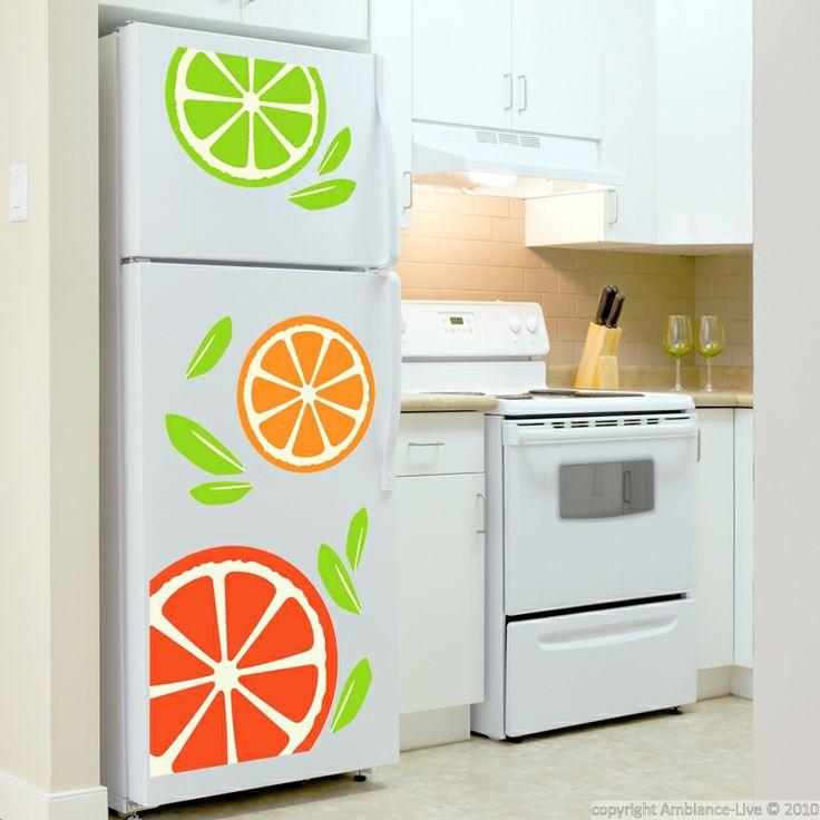 Les 25 meilleures id es concernant relooking de - Stickers pour refrigerateur ...