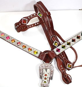 bling bridles | ... -Bling-Western-Tack-Set-w-Browband-Headstall-Breast-Collar-Horse-Tack