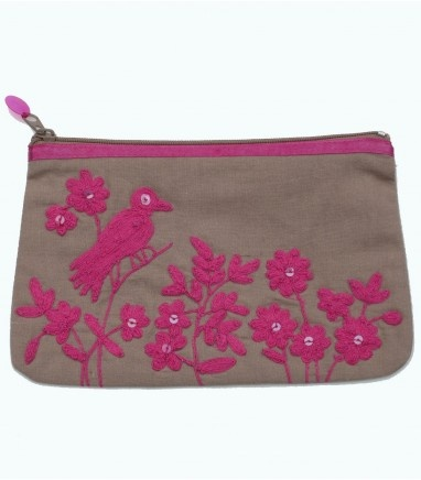 This stunning embroidered coin purse ....