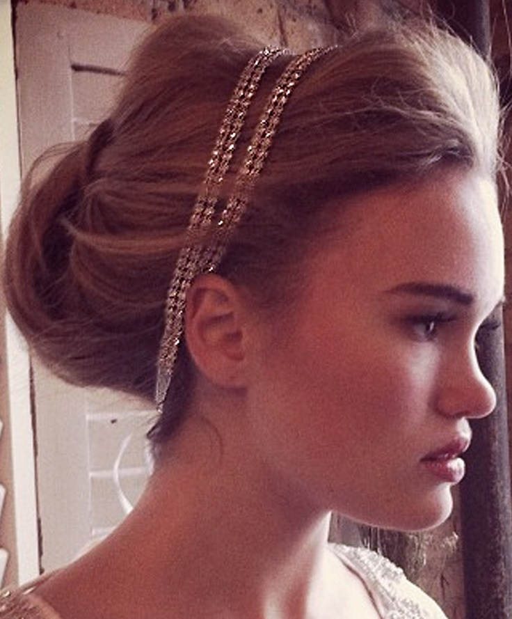 Two Strand Coy Crystal Double Headband | Kirsten Kuehn || handmade crystal bridal sashes & embellished accessories