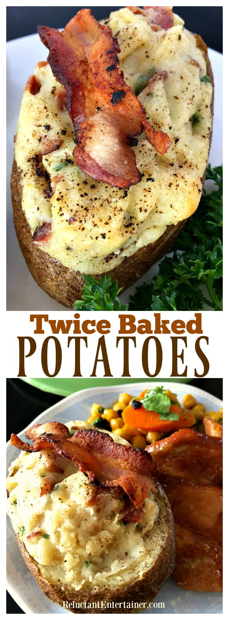 Twice-Baked Potatoes with Bacon