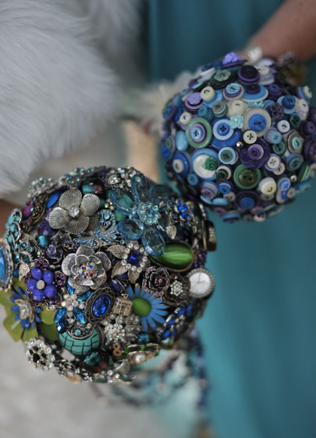 What about a brooch bouquet?