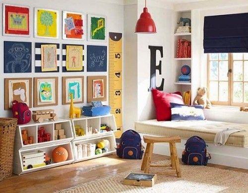 17 mejores ideas sobre peque o cuarto de juegos en - Organizacion habitacion infantil ...