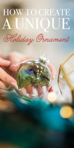 Everything You Need to Create a Unique Holiday Ornament #sponsored