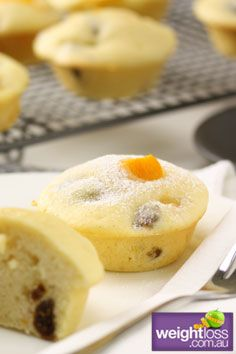 Healthy Muffins Recipes: Peach and Fig Baby Cakes. #HealthyRecipes #DietRecipes #WeightlossRecipes weightloss.com.au