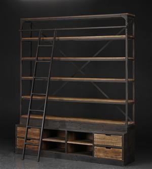 Vare: 3573592 Stor bogreol i industrielt design - sælges på lauritz.com