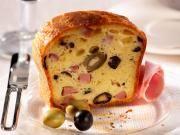 Cake jambon, olives et Camembert le Rustique