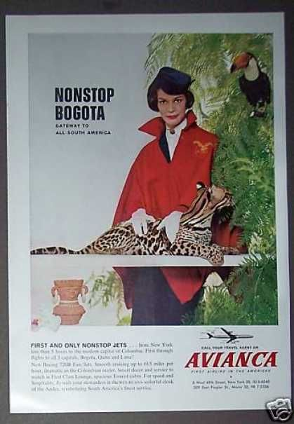 Stewardess With Ocelot Avianca Airlines