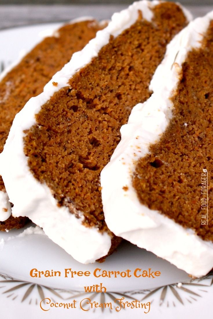 Grain Free Carrot Cake with Coconut Cream Frosting (Paleo, SCD, GAPS)
