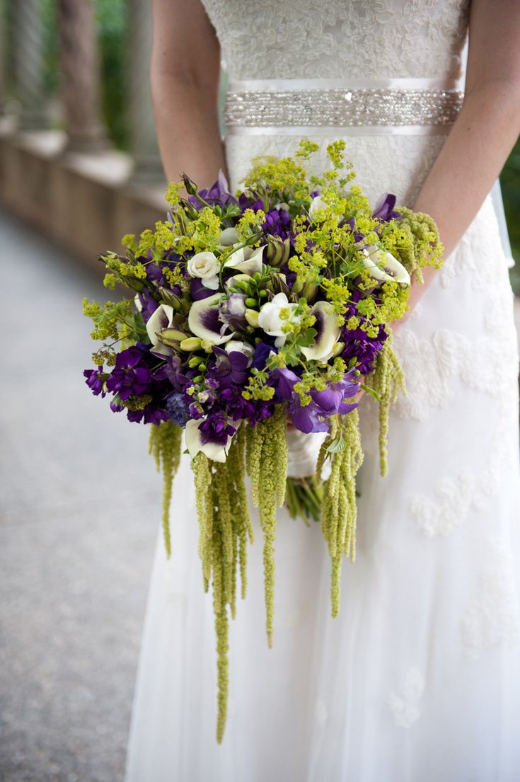 Purple And Green Wedding Bouquets Flowers Ideas