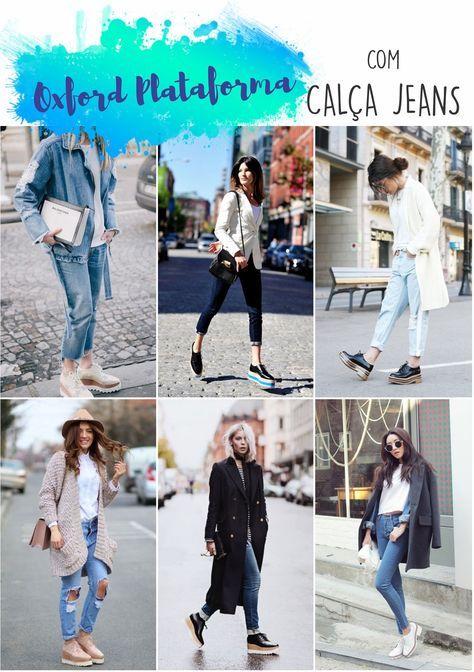 Como usar OXFORD PLATAFORMA com calça jeans