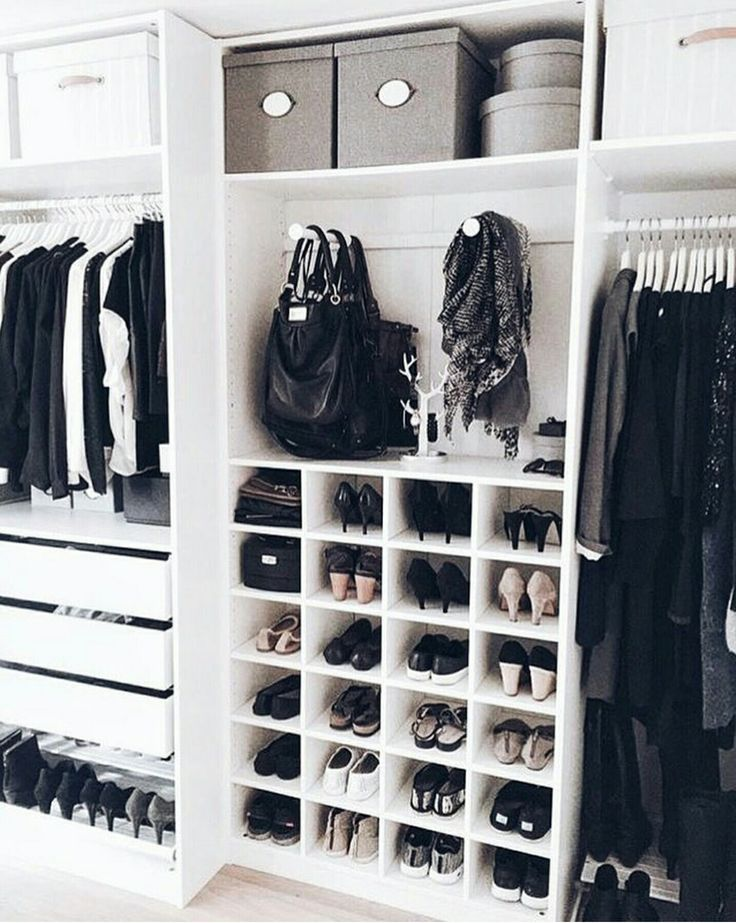 Closet · Minimalist ClosetPurse Storage OrganizationWalk In ...