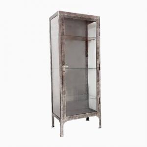 Polish Polished Metal Medical Cabinet, 1950s