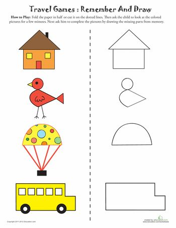 Worksheets: Draw the Missing Parts