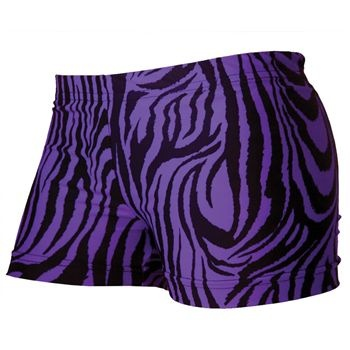 GemGear Purple Zebra Volleyball Spandex Shorts