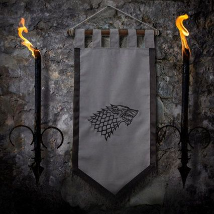 Game of thrones flag curtain house STARK home decor Winter Is Coming gift photo banner Arya Jonh Snow by Oki007 on Etsy