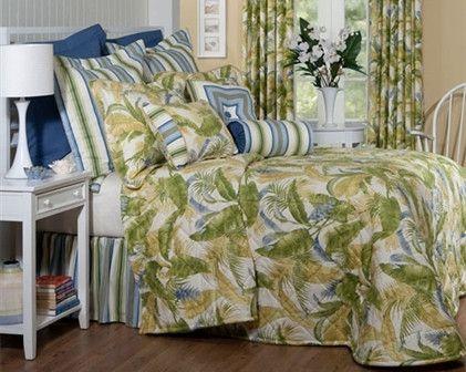 la selva cayman blue bedspread
