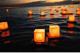 Image result for floating lights on water