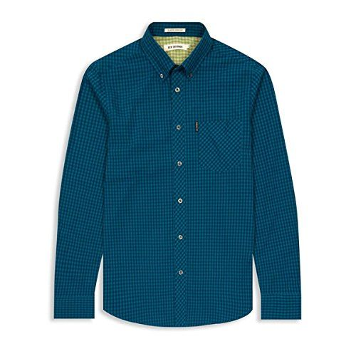 (ベンシャーマン) Ben Sherman メンズ トップス カジュアルシャツ Ben Sherman Classic Gingham Check Long Sleeve Shirt 並行輸入品  新品【取り寄せ商品のため、お届けまでに2週間前後かかります。】 表示サイズ表はすべて【参考サイズ】です。ご不明点はお問合せ下さい。 カラー:Blue