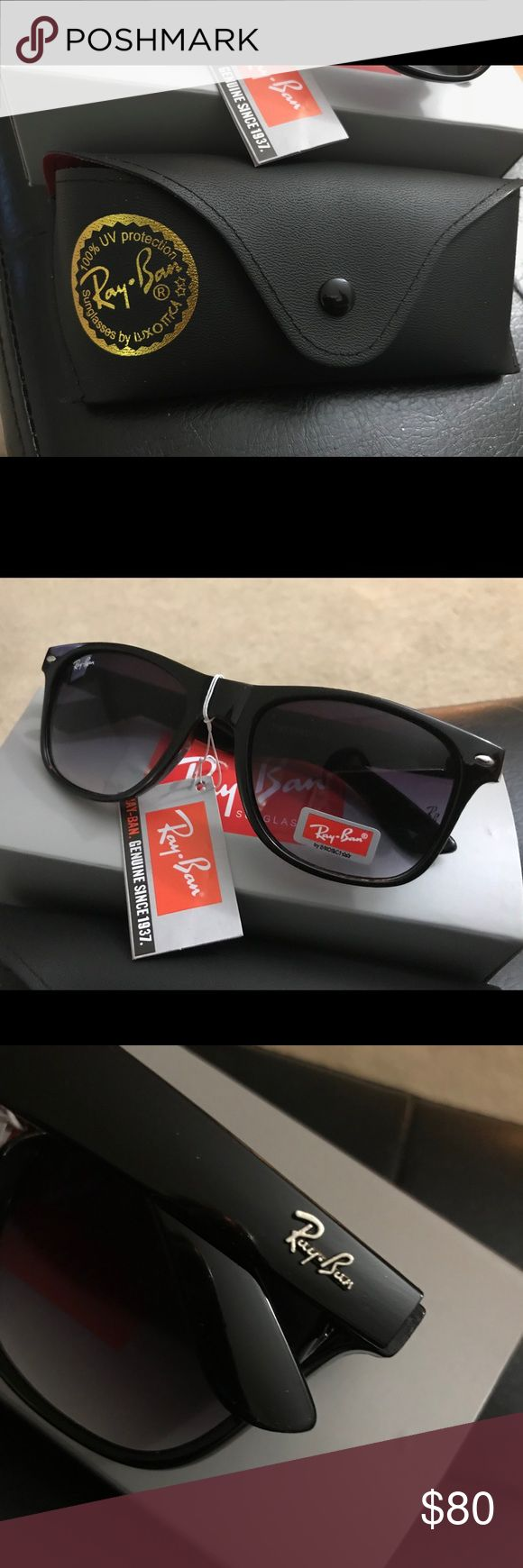 Black Ray Bans-Brand New Black Original Wayfarer Ray Bans-NEW never worn Accessories Watches