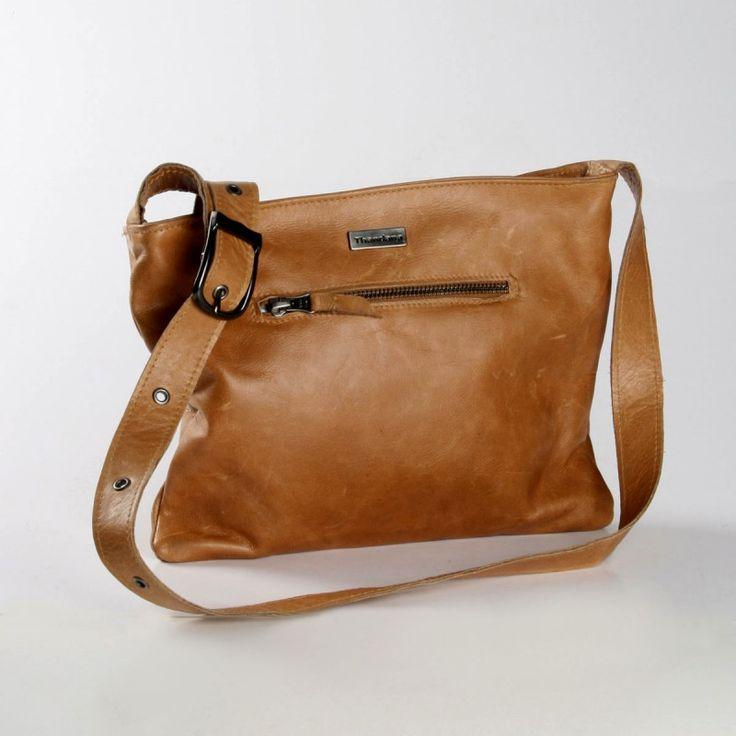 Mini Messenger Handbag | Hazelnut |  by THANDANA